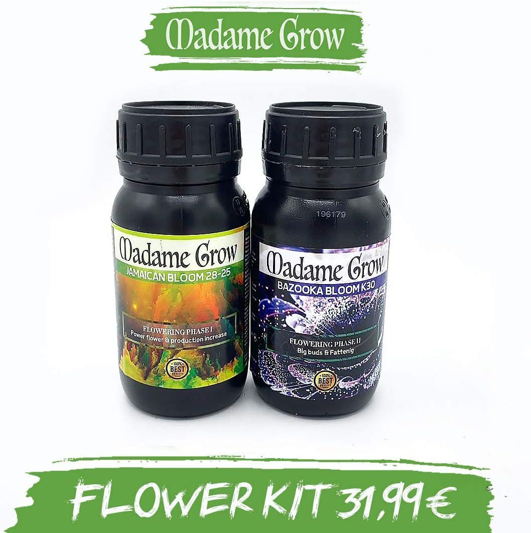 MADAME GROW ⭐️⭐️⭐️⭐️⭐️ Kit Flower DUOPACK - 2 x 250 ml - Ahorra ya y consigue con Este Kit floración y engorde para Marihuana bestiales sin complicaciones
