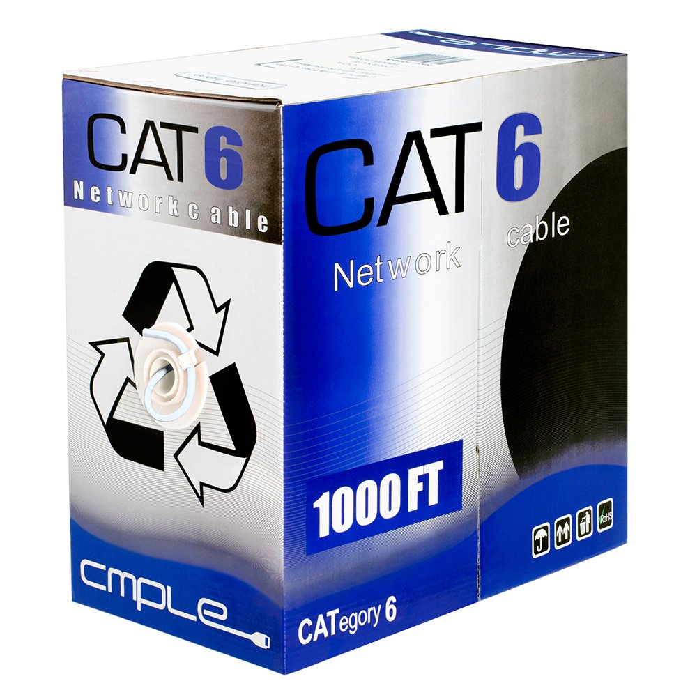 Cmple 1014-Amazon - CAT6 BULK 23AWG ETHERNET LAN NETWORK CABLE - 1000 FT White