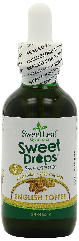 SweetLeaf Sweet Drops Liquid Stevia Sweetener, English Toffee, 2 Ounce (Pack of 2)
