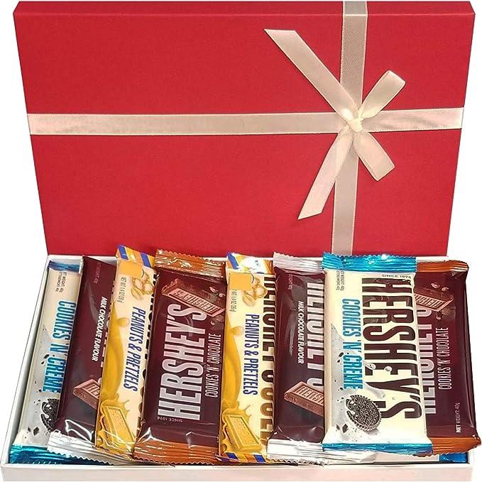 Caja de selección de chocolate americano Hersheys Chocolate con leche CookiesnChocolate & Cookies n Creme Perfect American Chocolates Box: Amazon.es: Alimentación y bebidas