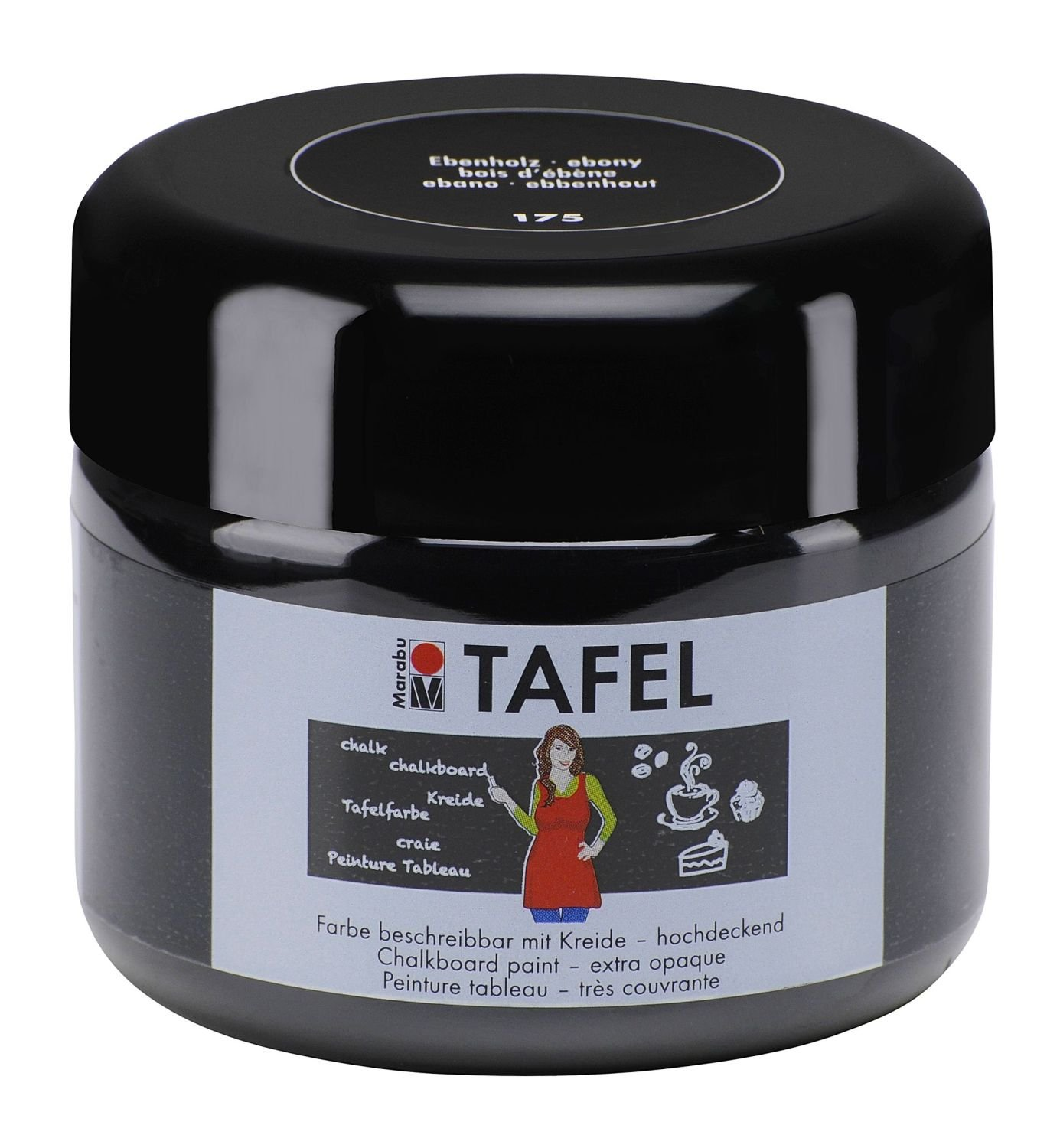Marabu 025925175 - Tafelfarbe, 225 ml, ebenholz: Amazon.de: Küche ...