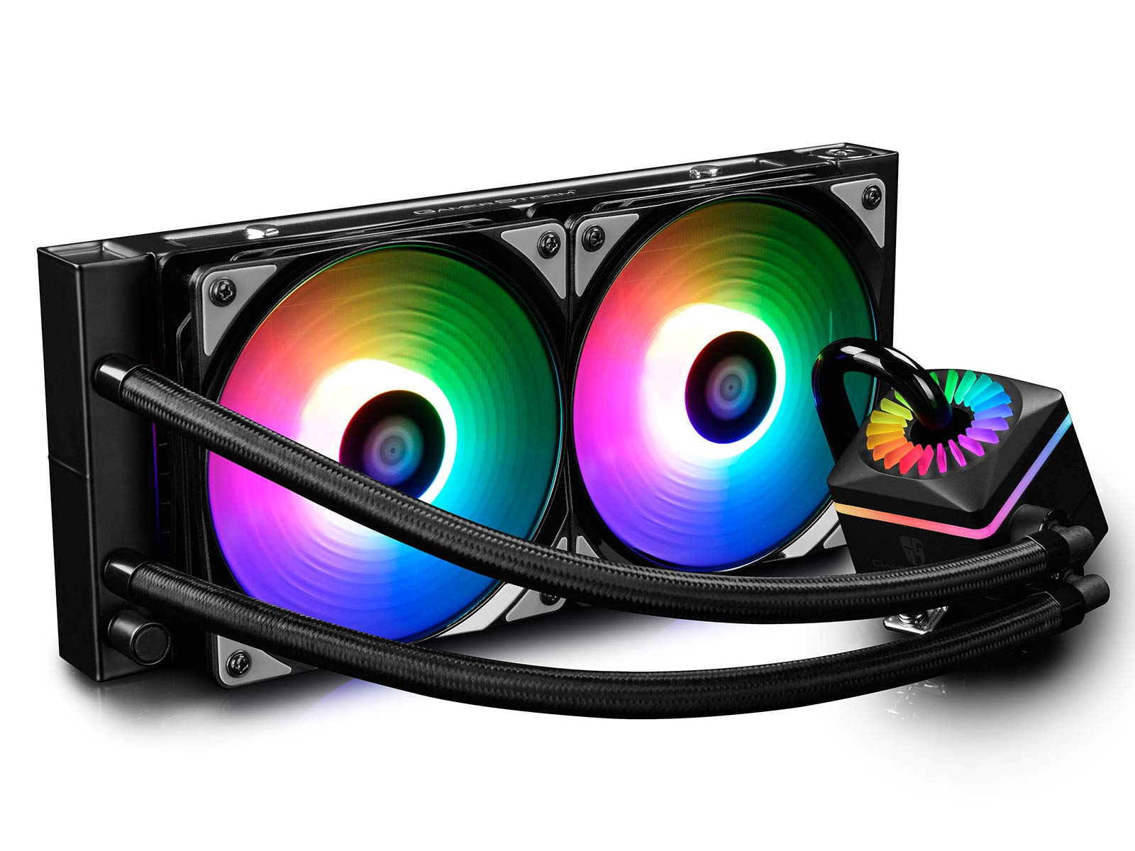 DEEPCOOL Captain 240PRO Addressable RGB AIO CPU Liquid Cooler, Cable Controller and 5V ADD RGB 3-Pin Motherboard Control, Intel 115X/2066 and AMD TR4/AM4 Compatible, 3-Year Warranty