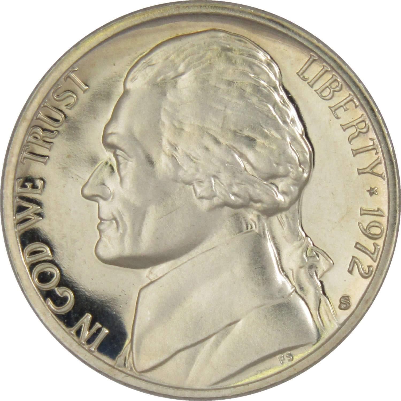 1972-P Jefferson Nickel Gem BU Full Steps Uncirculated