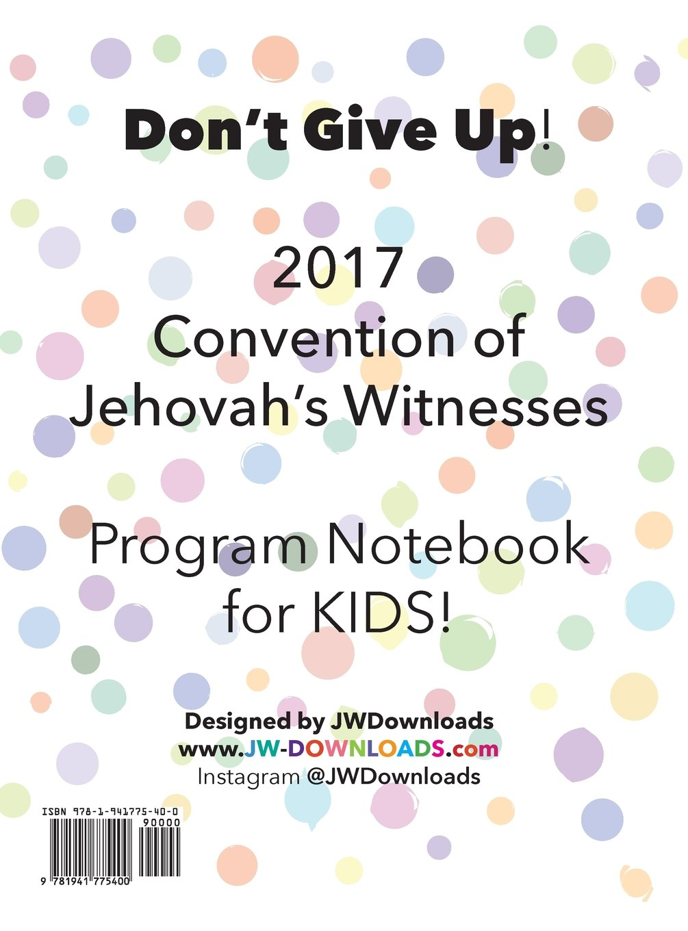 2019 Regional Convention Notebook Free Download