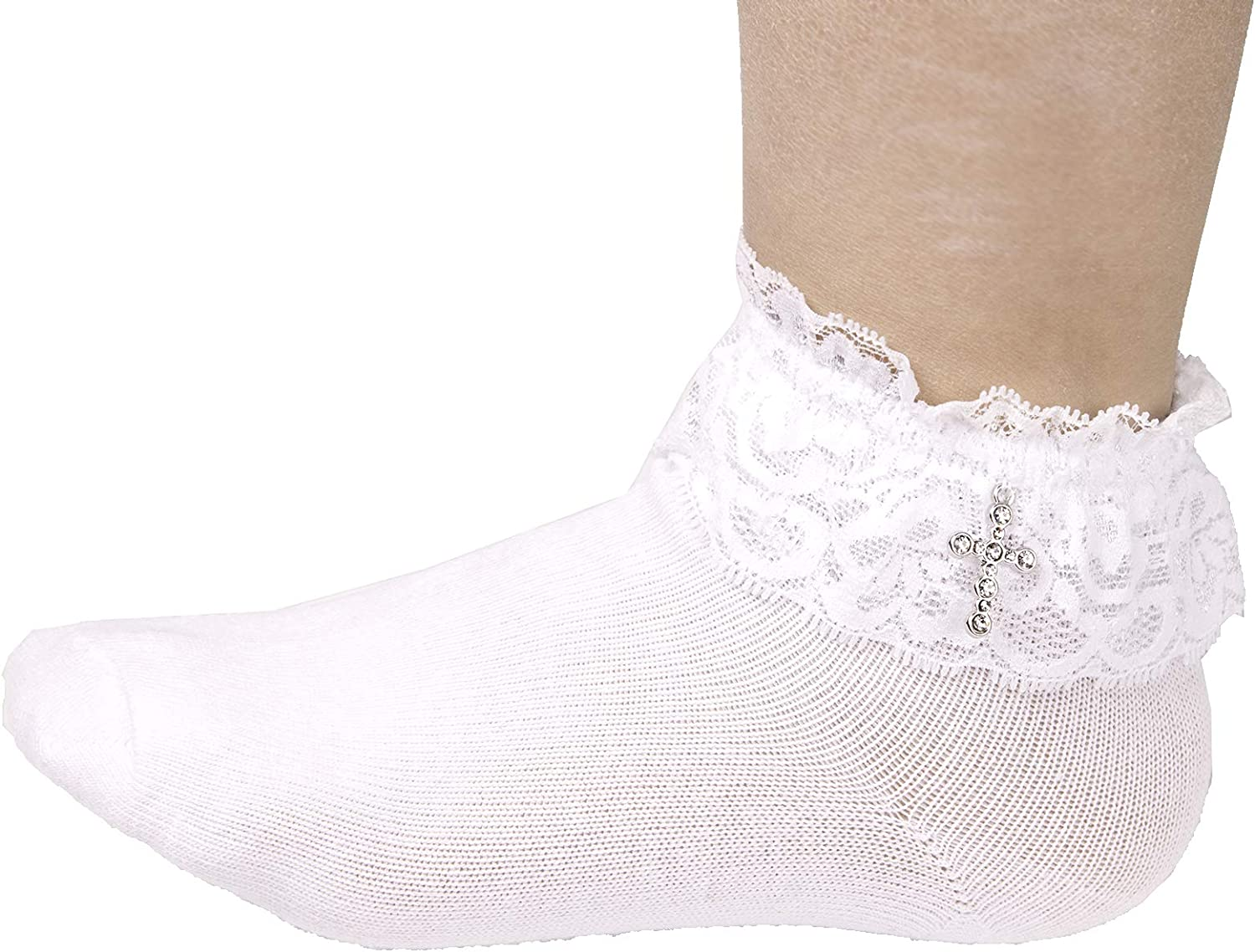 Flora Girls First Holy Communion//Confession//Pageant Occasion Ankle-Length Socks