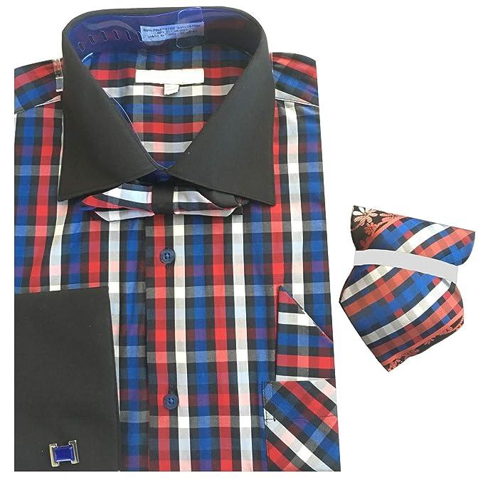 Amazon.com: Sunrise Outlet para hombre Plaid camisa de ...