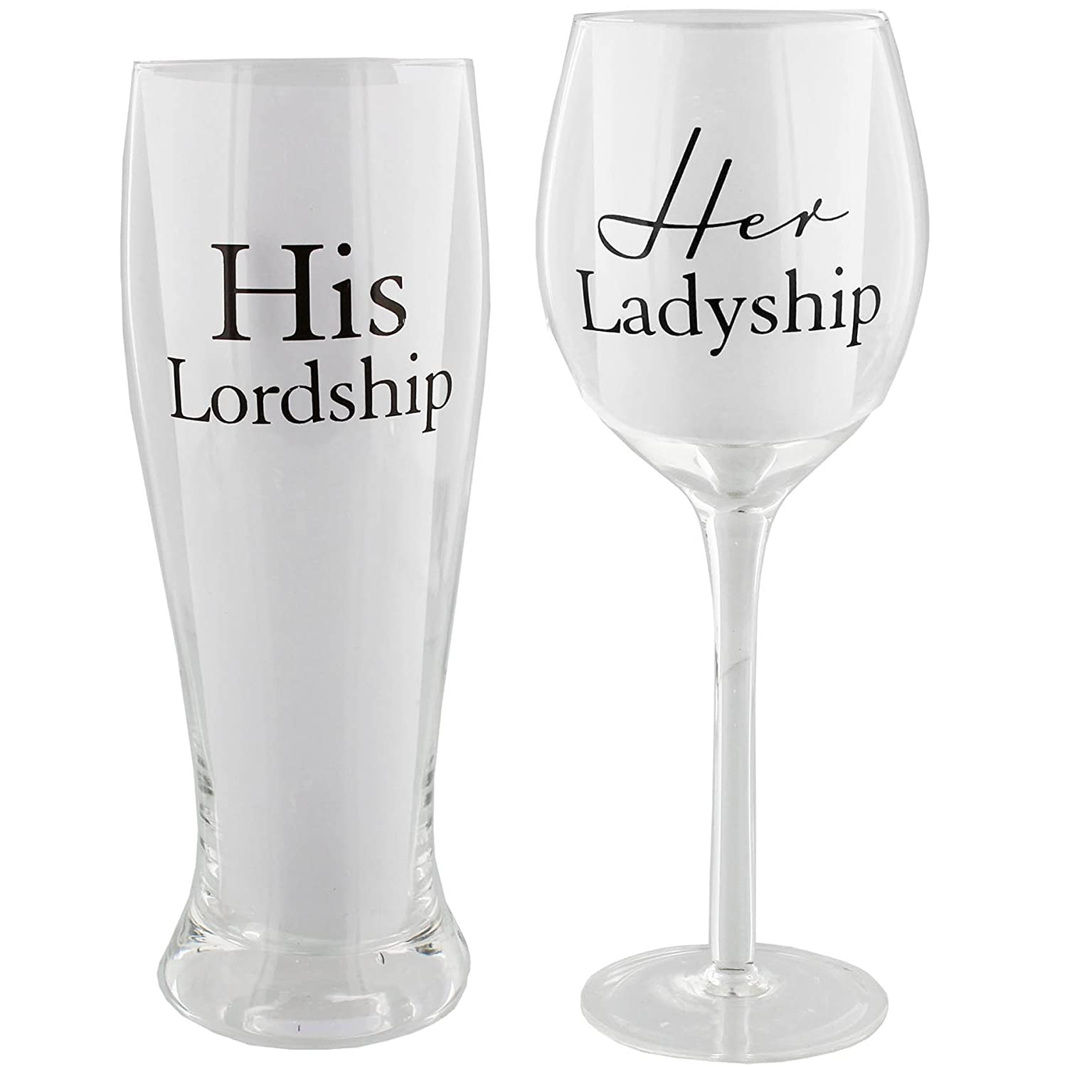 Her Ladyship Wine Glass and His Lordship Pint Glass XWG531