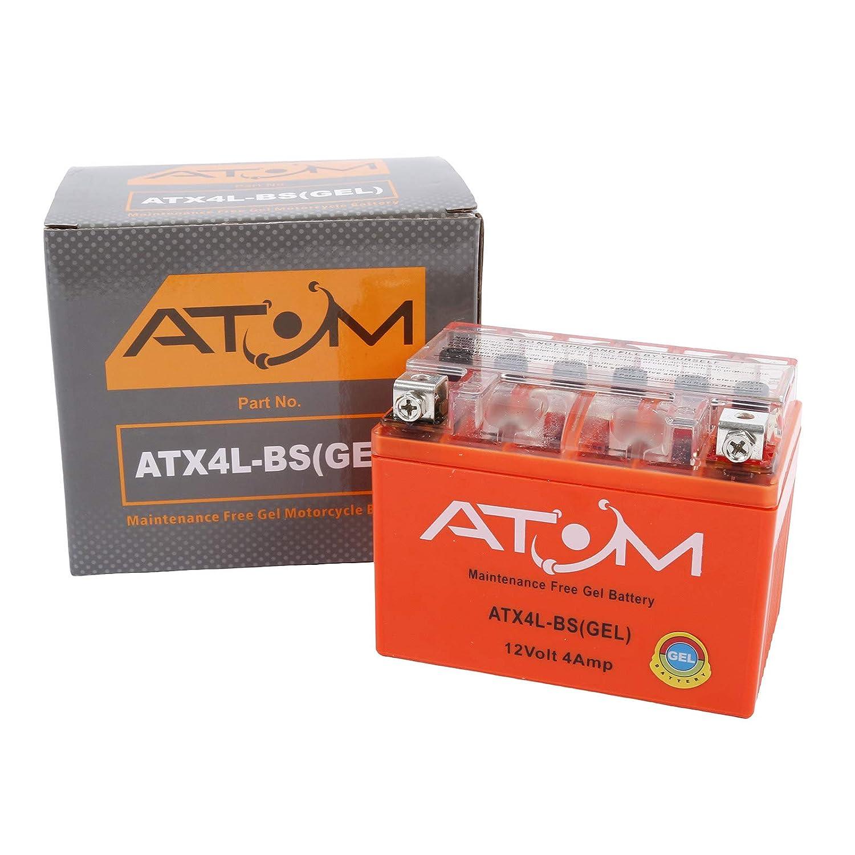 YB4L-B Atom Advanced ATX4L-BS Gel Motorcycle Battery Replaces YTX4L-BS LYTX4L-BS