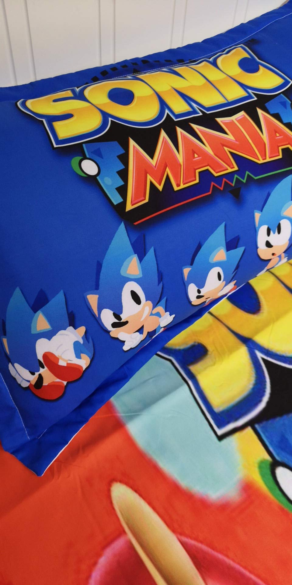 Kid Duvet Cover Queen Sonic Bedding 3 Piece Duvet Covers for Children/Adult by lovemmm