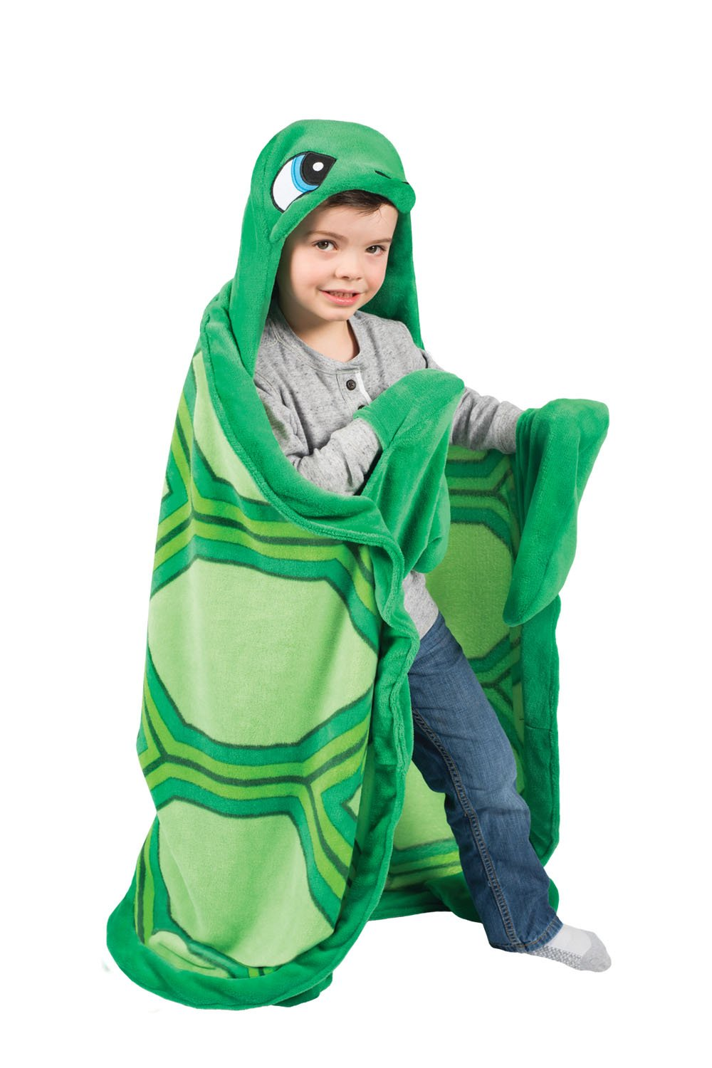 Fin Fun Snapper Turtle Wearable Wearable Hooded Blanket Wild Things CT-TRTL-K