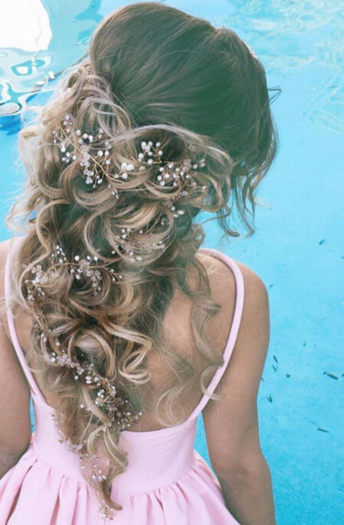 Amazon.com   Yean Bridal Wedding Hair Accessories Rhinestone Updo Headband  Headpieces for Bride and Flower Girl (Silver)   Beauty 7efa8f362b18