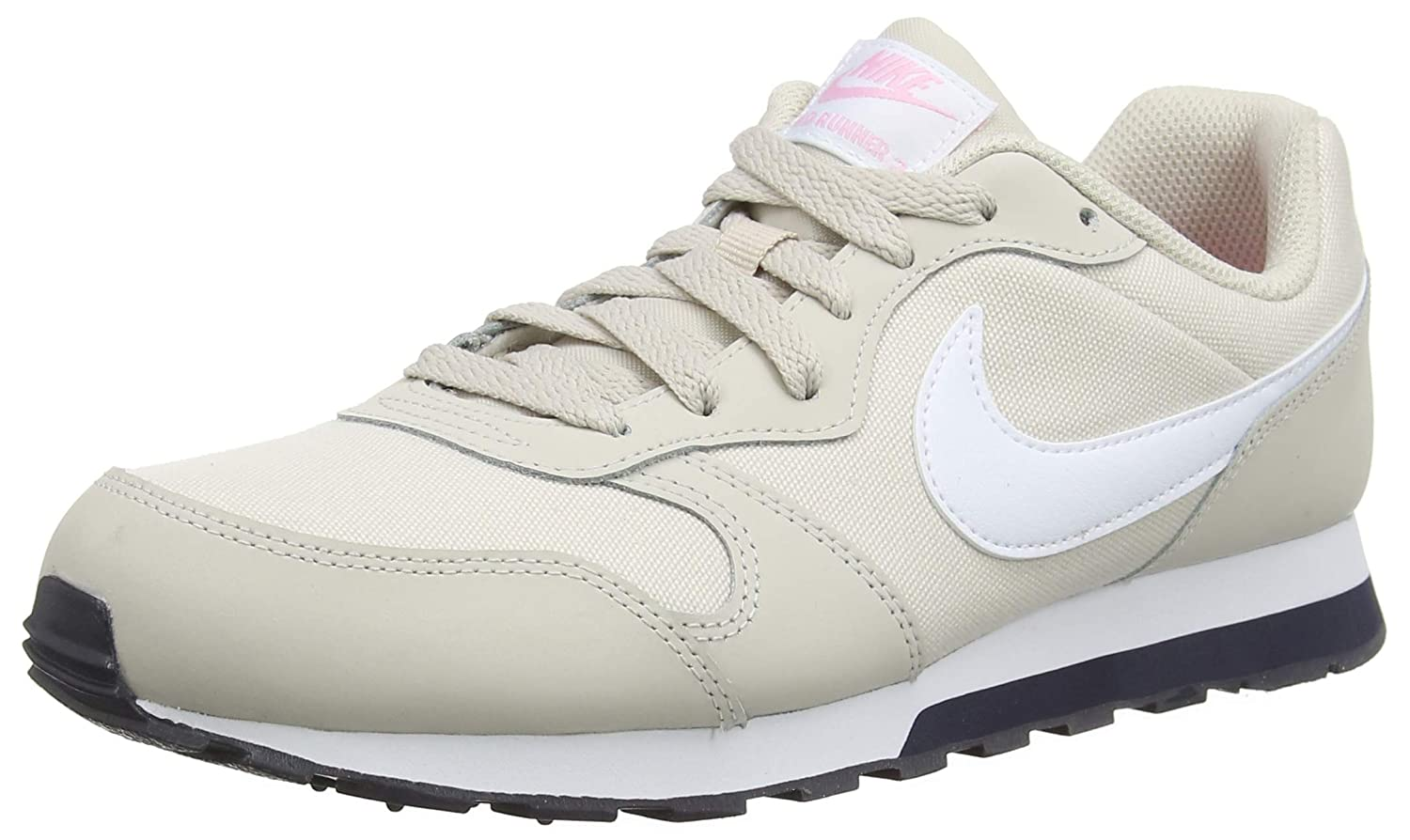 NIKE MD Runner 2 19947 GS, MD Chaussures 2 de Fitness Fille Multicolore (Desert Sand/White/Pink/Gridiron 001) cc16642 - shopssong.space