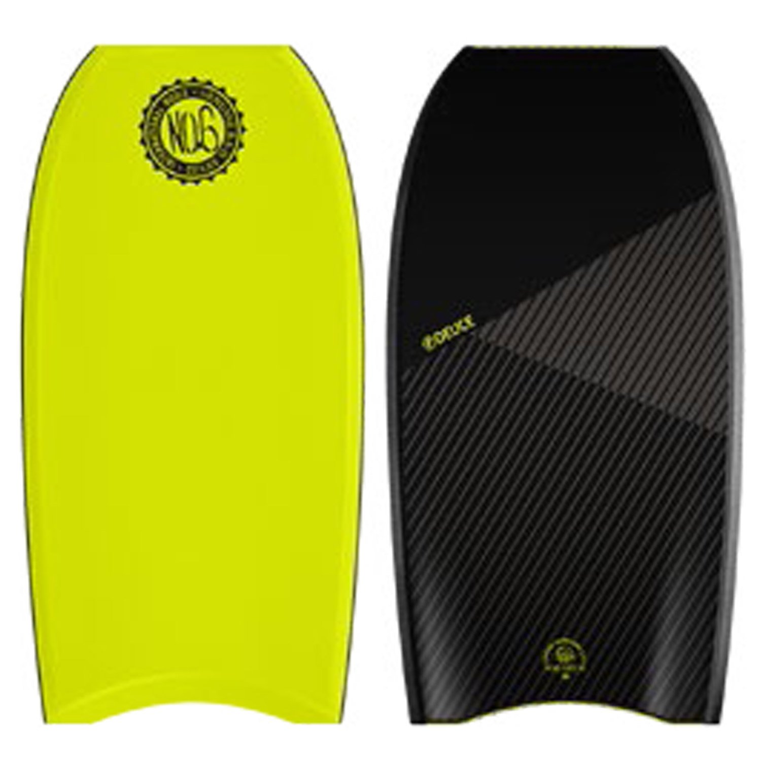 No。6 Bodyboards Deuce 43 CT  Lemon deck, Black rails, Black bottom B074VFZZZZ