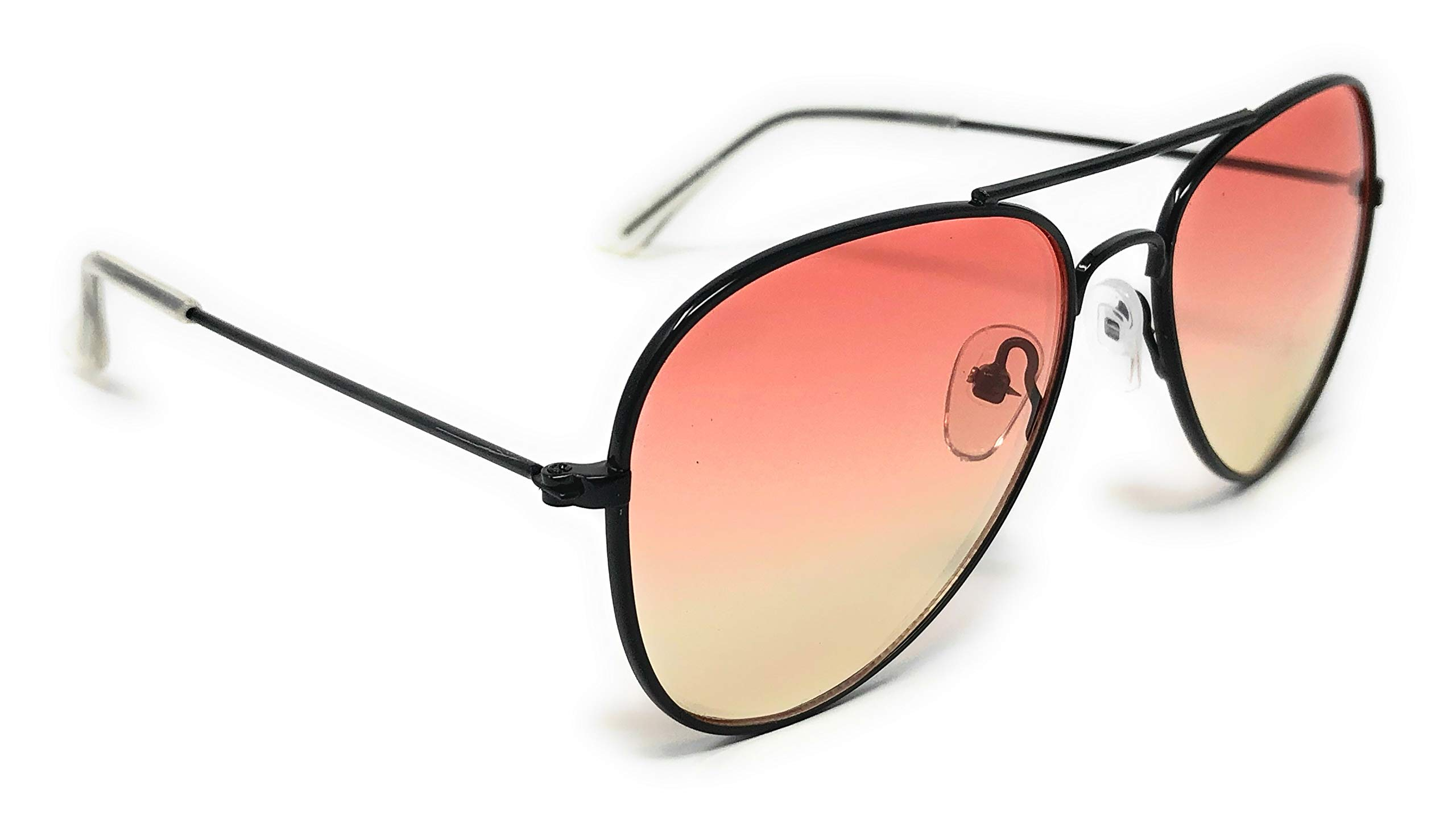 My Shades - Little Children's Kids Classic Retro Aviator Sunglasses Metal Frame Ages 2 to 5 (Two Tone, Orange/Yellow) by WebDeals (Image #3)