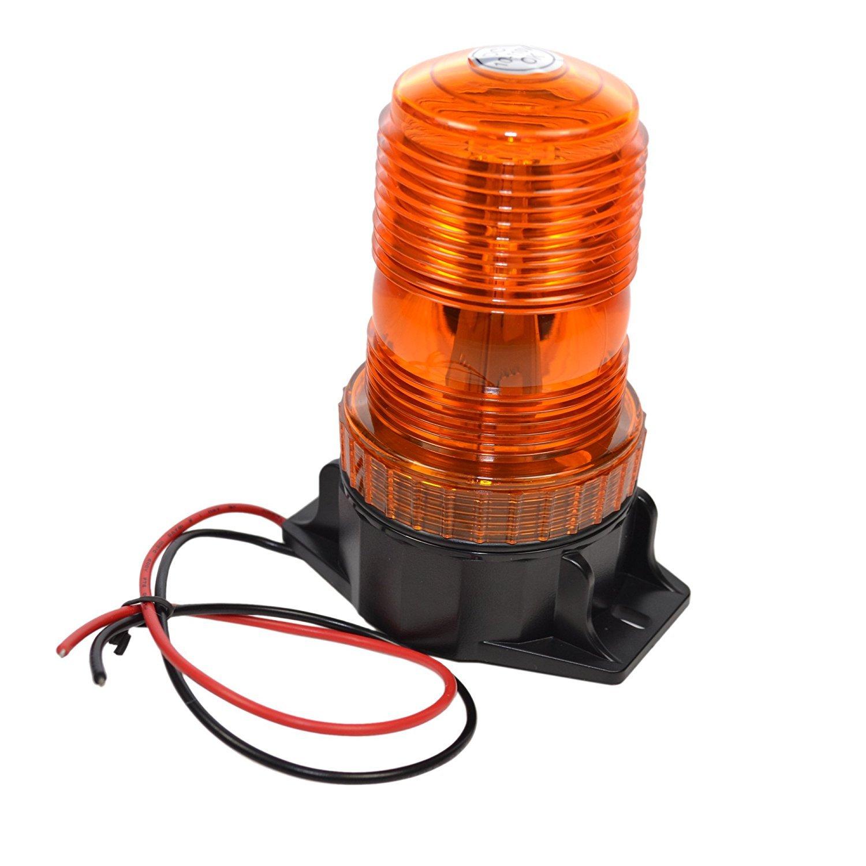 Hqrp 30 Led 360 Degrees Mini Beacon Amber Warning Strobe Wiring Harness Toyota 8fgu25 Light For Cushion Forklift 7fgcu70 8fgcsu20 8fgcu15 8fgcu18 8fgcu20