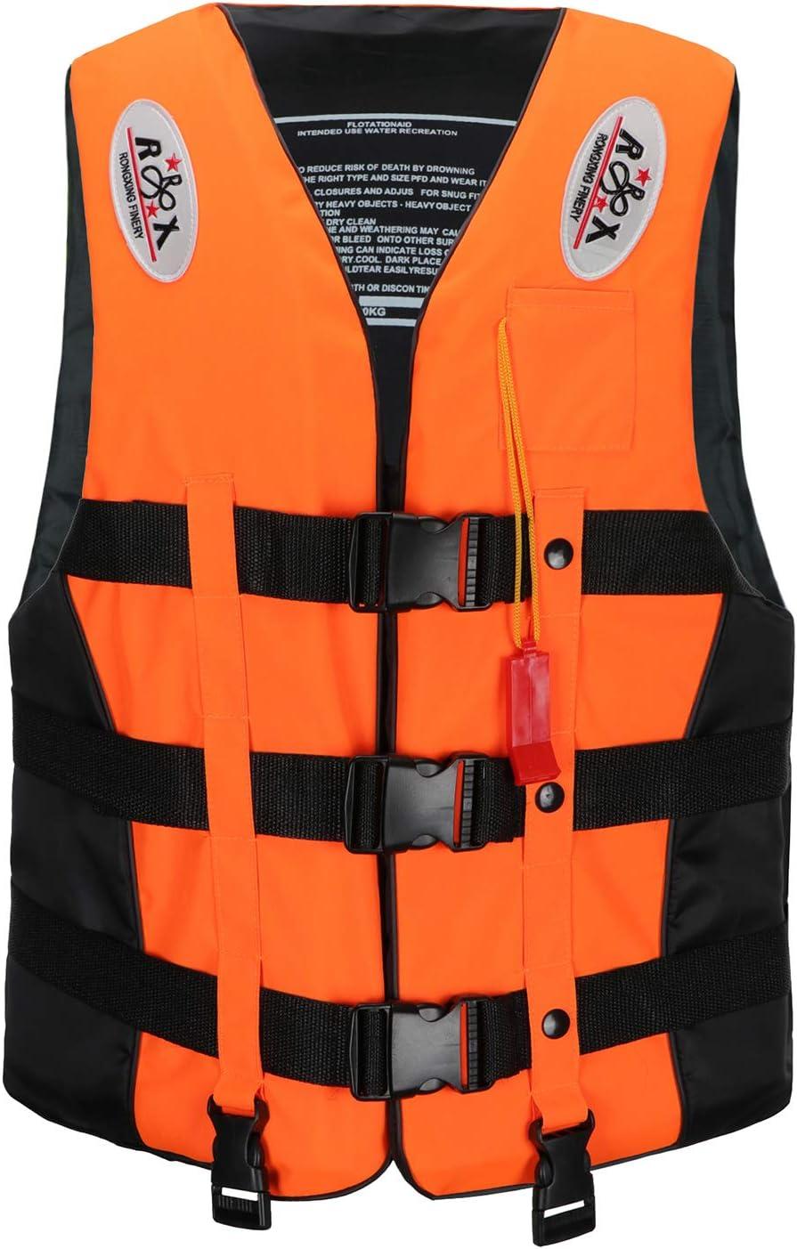 Life Jackets Adults Kids Kayaking Diving Vests For Boating Kayak Canoeing KTWOLEN Adjustable Float Jacket Swimming Buoyancy Aid