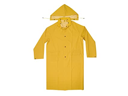 factory price distinctive design great quality CLC Custom Leathercraft Rain Wear R105L .35 MM PVC Trench Coat, Large,  Yellow