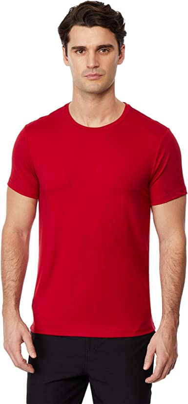 Coolred-Men Polo Loose Solid Lounge Short Sleeve Stand Collar T-Shirt