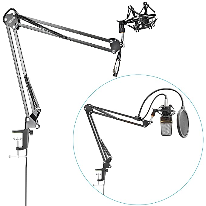 Amazon Com Neewer Nw 35 Table Top Microphone Suspension Boom