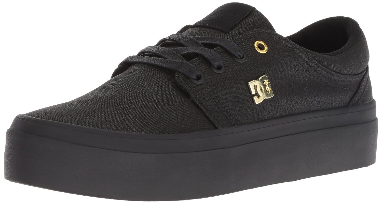 DC Women's Trase Platform TX SE Skate Shoe B077V4Z9YC 10 B(M) US|Black/Black