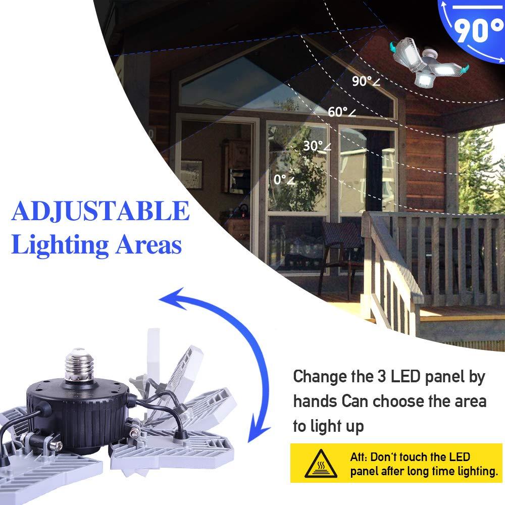 Garage Ceiling Lights: Garage Lighting 80W,Led Garage Lights 8000lm,E26 Garage