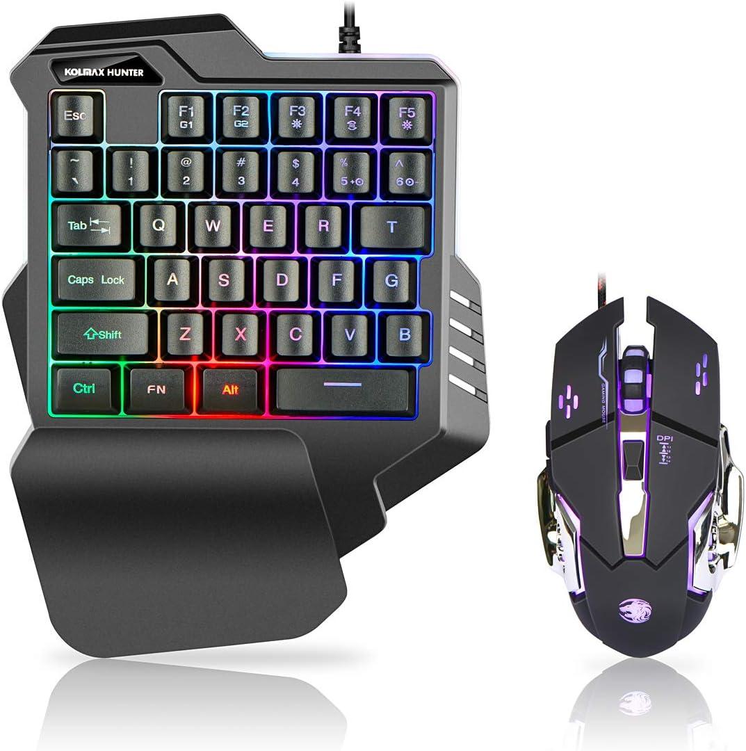 AFANG Keyboard 1000dpi Colorful Light USB Scroll Wheel Optical ...