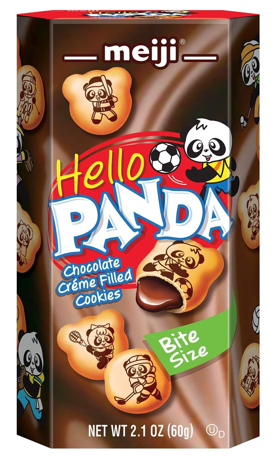 Meiji Hello Panda Cookie, Chocolate, 2.1 Ounce (Pack of 10) (pack of 40) by Meiji