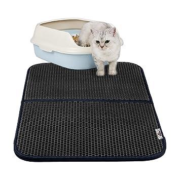Estera de arena para gatos, Almohadilla de panal plegable impermeable - Proteja el piso y