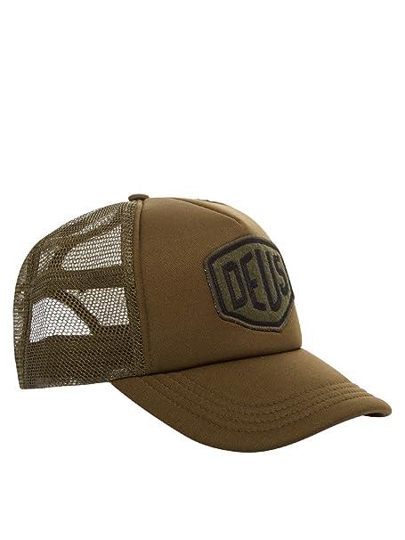 Deus Trucker cap Olive Taglia Unica  Amazon.it  Abbigliamento 31197bbaf786