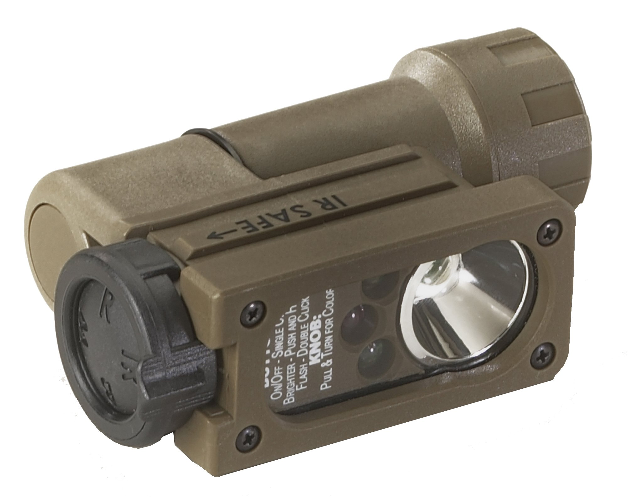 Streamlight 14101 Sidewinder Compact Military Flashlight with C4 LEDs, Helmet Mount and CR123A Lithium Battery, Green - 55 Lumens