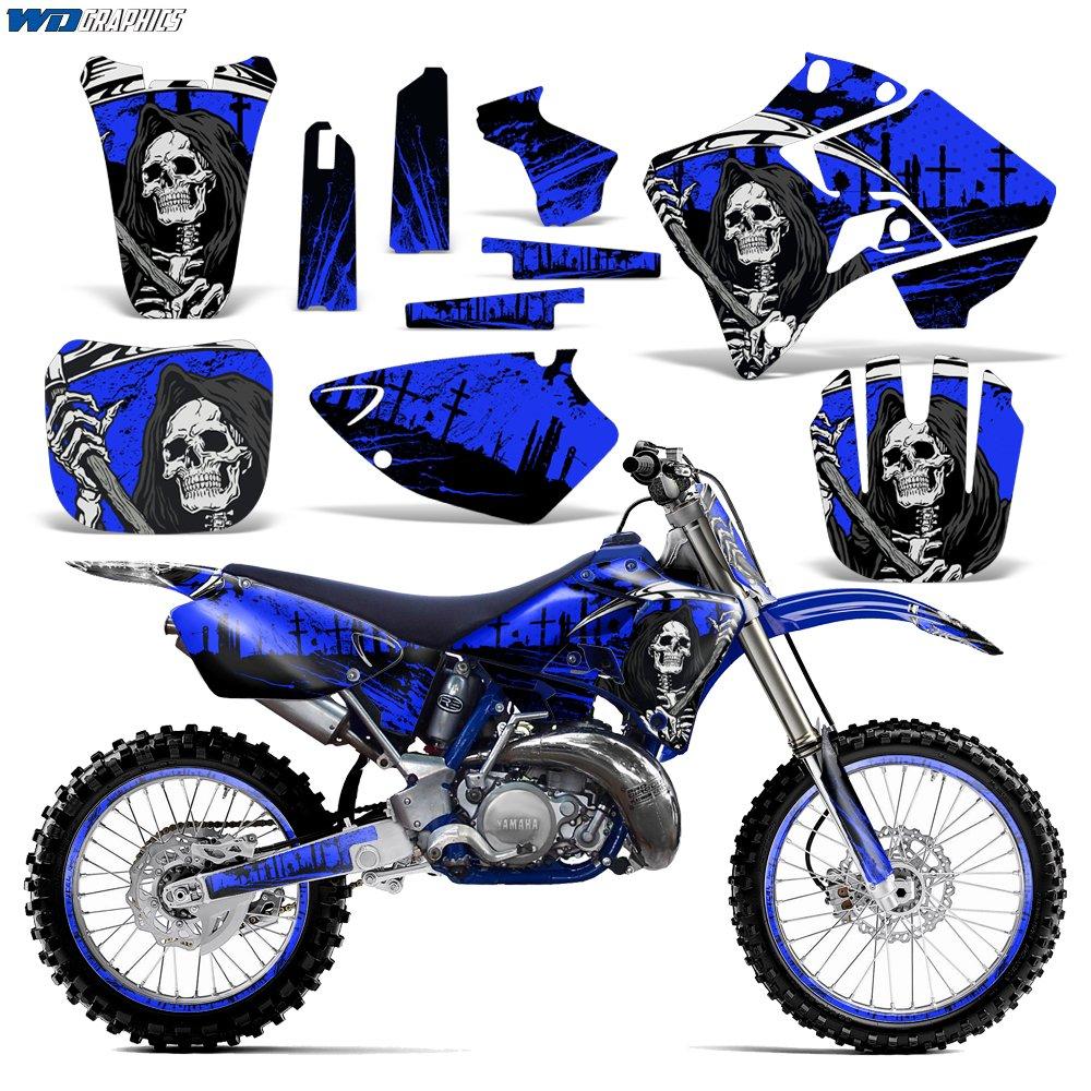 ヤマハyz125 yz250 1996 – 2001グラフィックキットMXダートバイクyz 125 YZ 250 Reaperブルー   B0725LS83T
