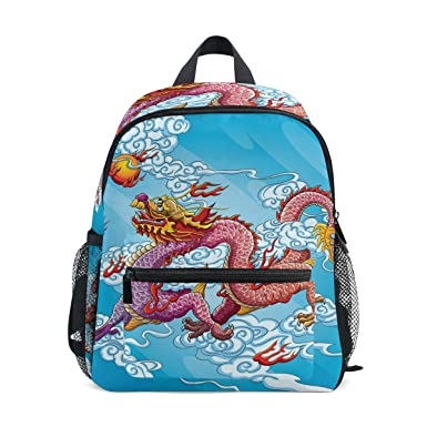 c5c0717cc924 Image Unavailable. Image not available for. Color  GIOVANIOR Chinese Dragon  Painting Travel School Backpack for Boys ...