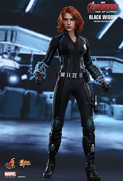 Amazon Com Hot Toys Mms288 Avengers Age Of Ultron Black Widow 1 6 Scale Figure Toys Games