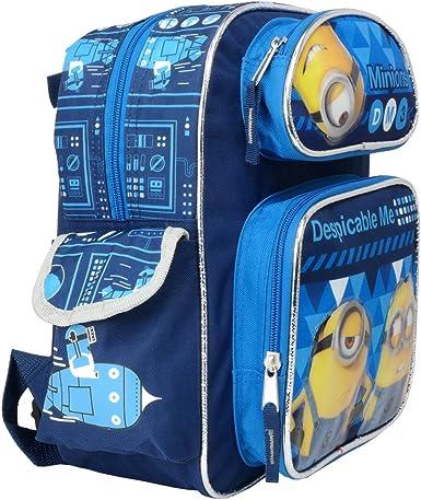 "Despicable Me Minions 3 DM3 12/"" Canvas Blue School Backpack"