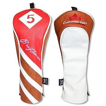 Artesano Golf piel sintética de color rojo marrón blanco ...