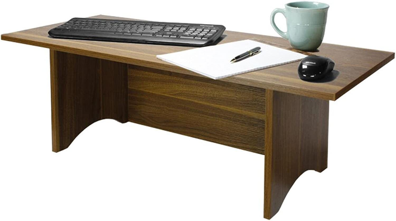 Red Cocoa, Regular Miracle Desk Stand Up Desk Convert a Regular Desk to Standing