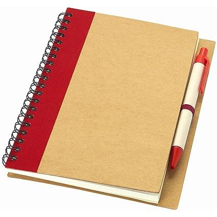 Notebook para notas con 60 hojas A7 a rayas Bolígrafo Bola ...