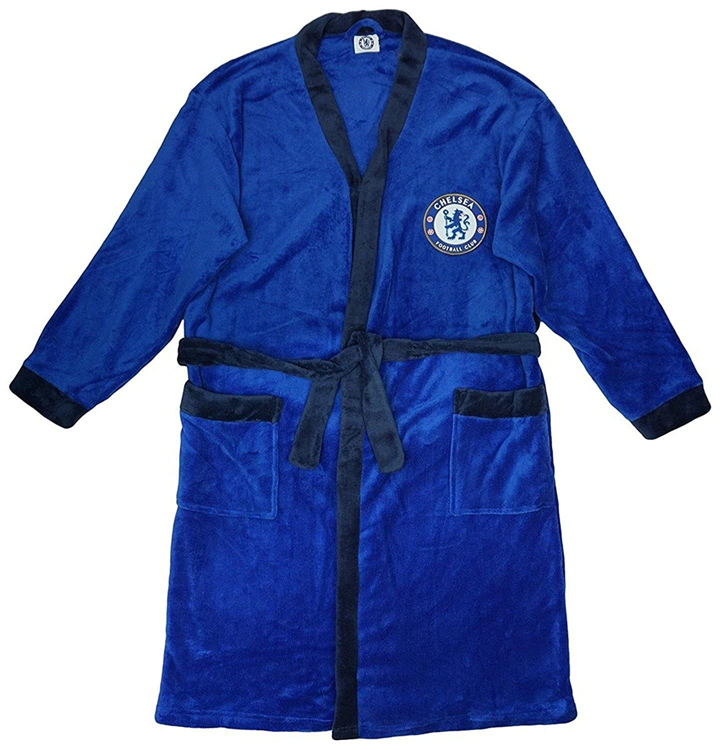 Official Licensed Chelsea FC Dressing Gown Bathrobe Mens S Fc M L Xl Football SIZE LARGE