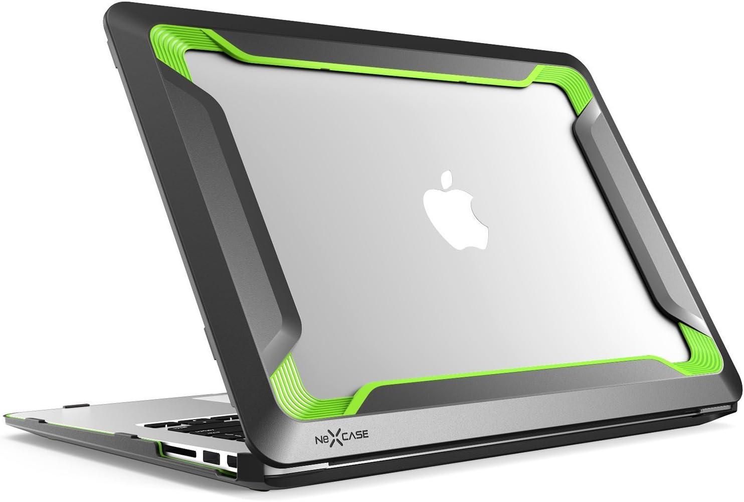Macbook Air 13 Case  HEAVY DUTY Slim Rubberized Dual Layer Hard Case Cover BLACK