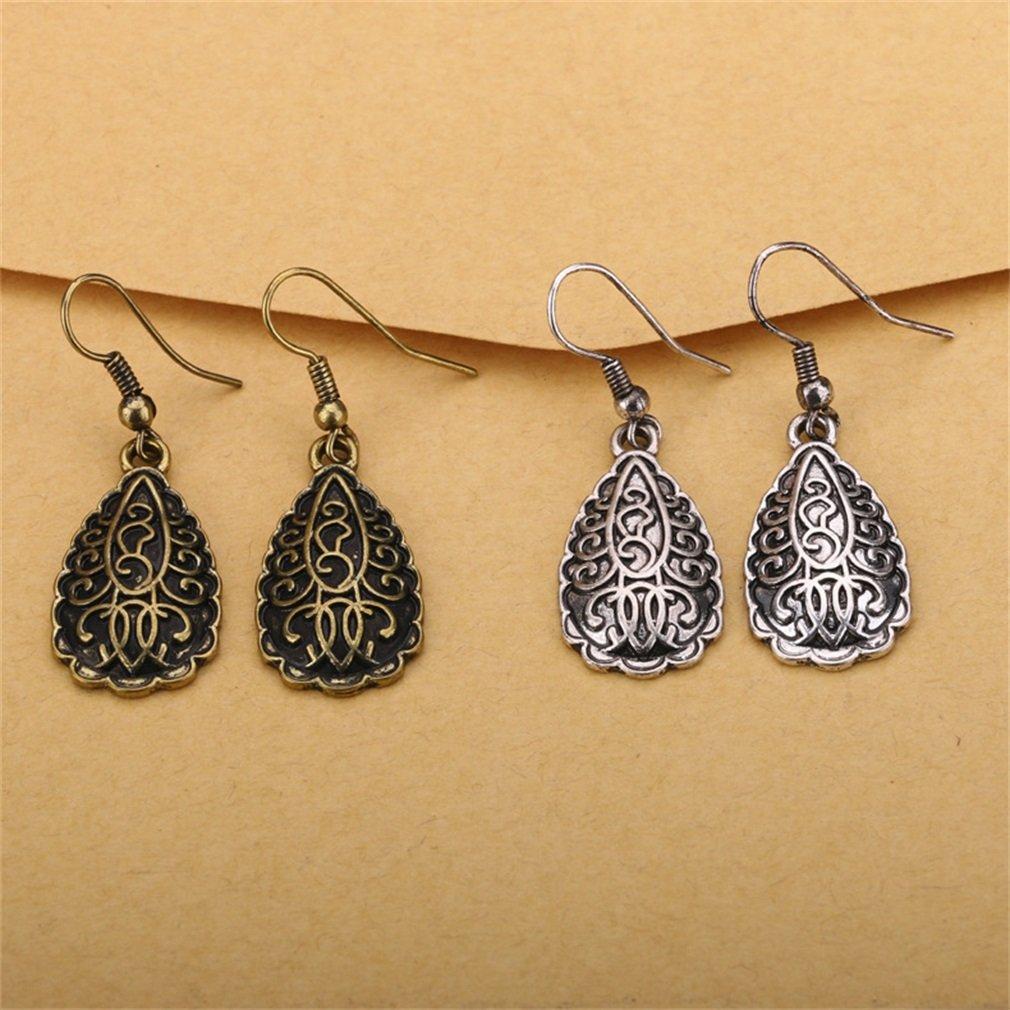 YAZILIND Retro Water-drop Shape Earrings Fashion Tear-drop Shape Drop Dangle Jewelry Gift for Women Girls
