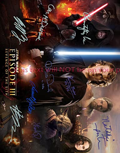 Star Wars Episode Iii Revenge Of The Sith Autographed 11x14 Poster Photo At Amazon S Entertainment Collectibles Store