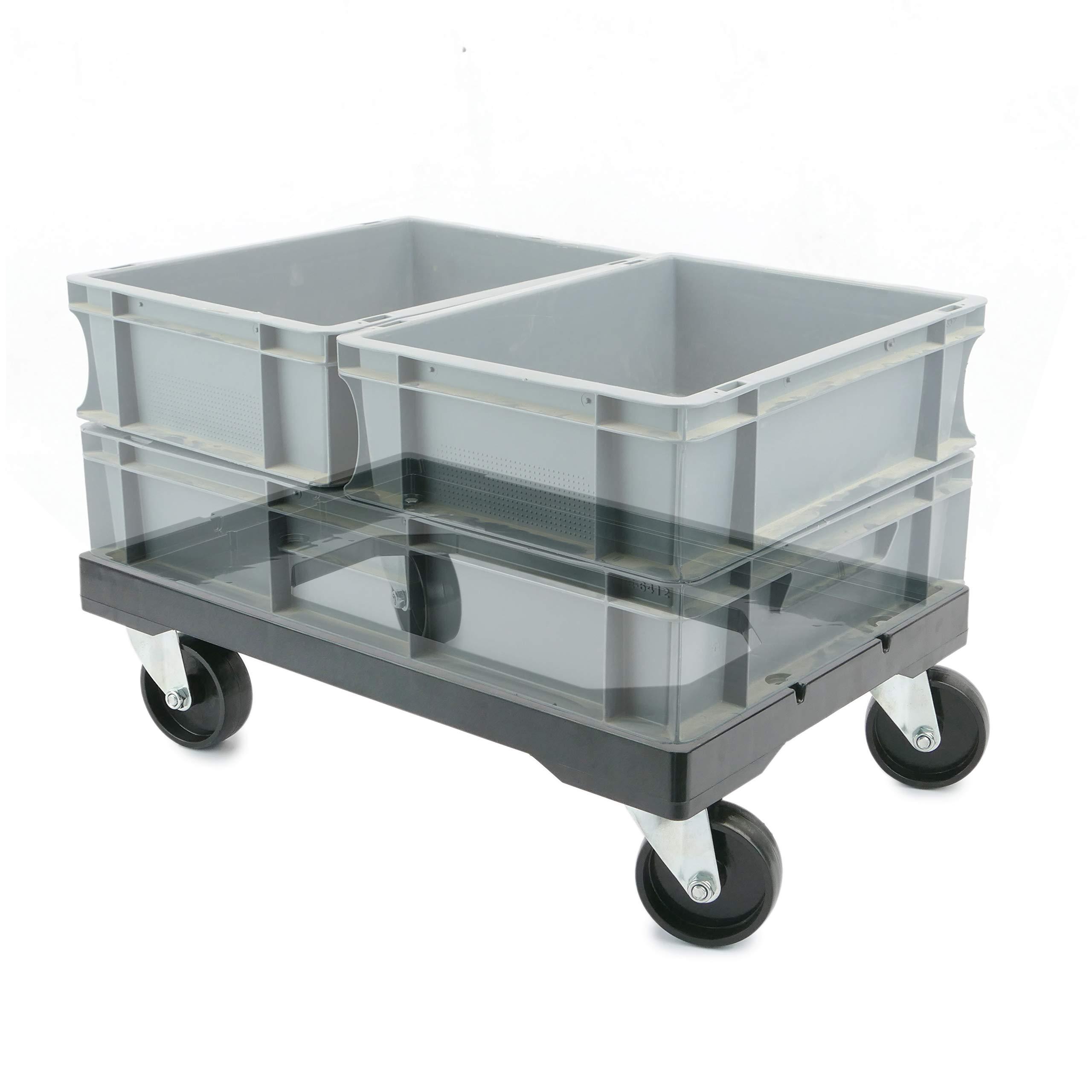 PrimeMatik - Platform with Wheels for Carrying Eurobox Boxes 60 x 40 cm (KA081) by PrimeMatik (Image #3)