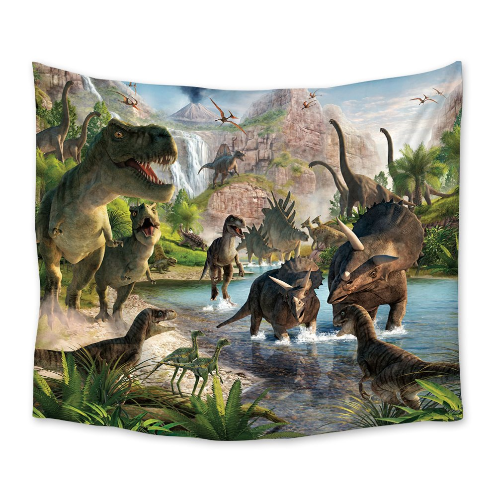 Chees D Zone Wall Hangings Tapestry Jurassic Dinosaur Light Weight Fabric Throw Tapestries for Home Living Room Bedroom Dorm Art Decor