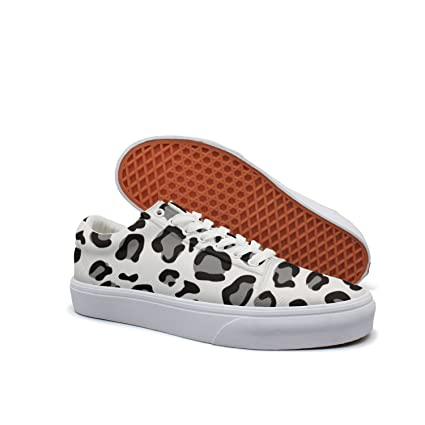 7d34ea2429c4a Amazon.com: Cheetah Print Athletic Custom Canvas Sneakers Shoes ...