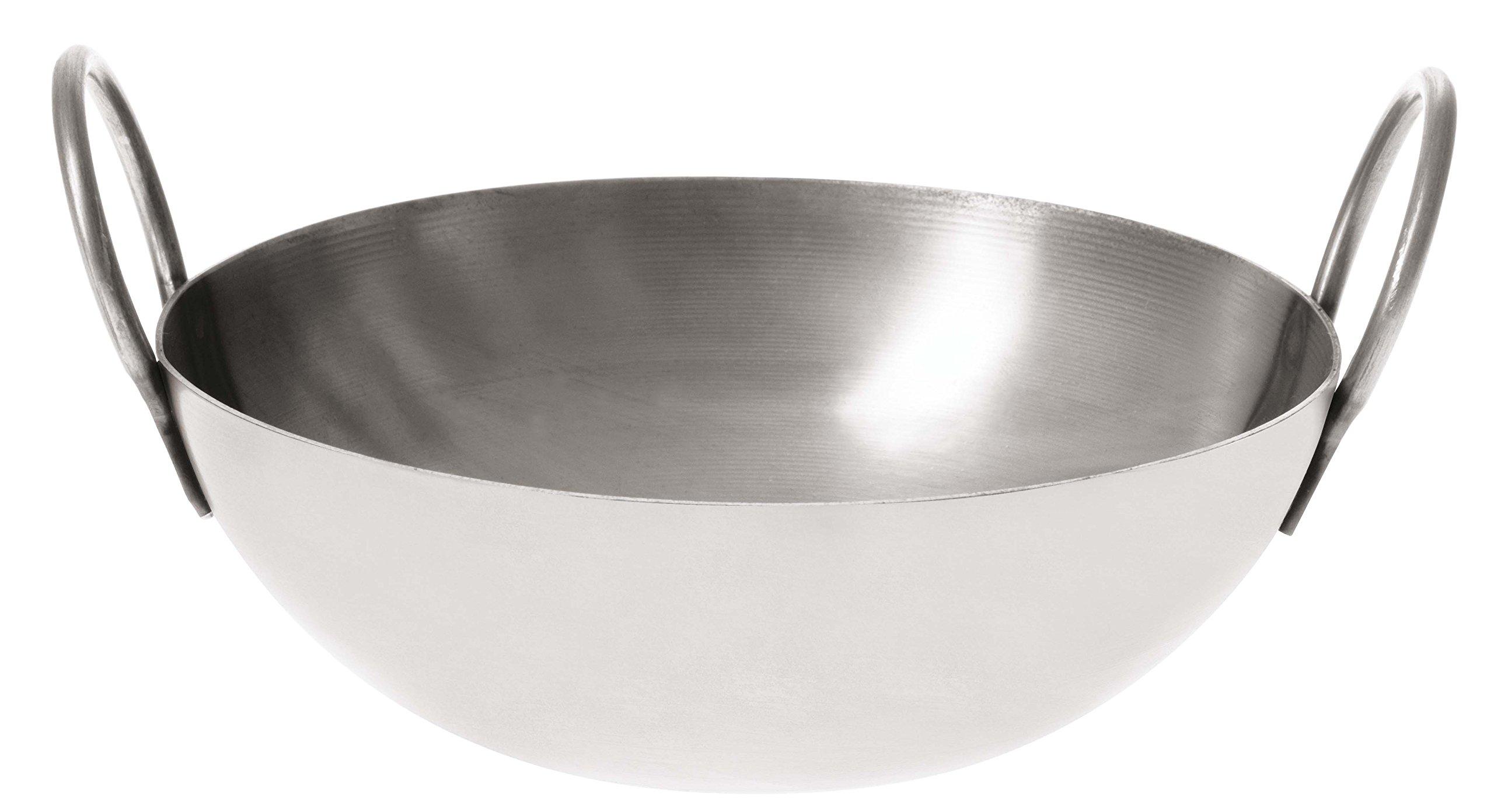 Paderno World Cuisine Stainless Steel Balti Pan, 6-Inch