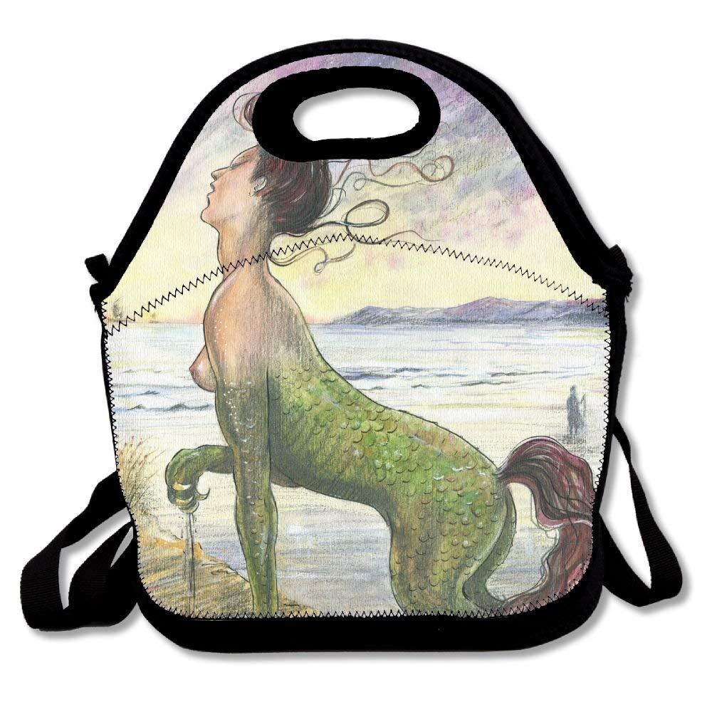 ffa432af093e Amazon.com  crysss Green Fierce Bearded Dragon Lizard Classic Lunch Bag  Reusable Lunch Box Handbag For Womens Mens Kids  Kitchen   Dining