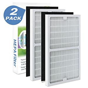 2 Pack IAF-H-100C Filter C Compatiable with Idylis Air Purifiers IAP-10-280 & IAP-10-200 (2 Pack Hepa Filter & 2 Activated Carbon Pre-Filter)