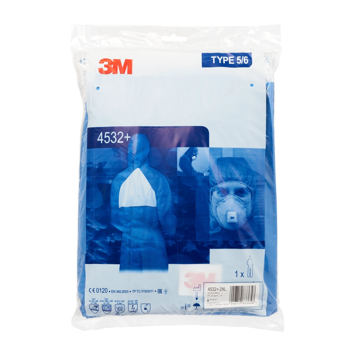3M Protective Coverall Blue 4532 B-2XL
