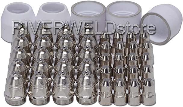 P-80 plasma torch consumables kits electrode tip shield cup 45pcs free shipping