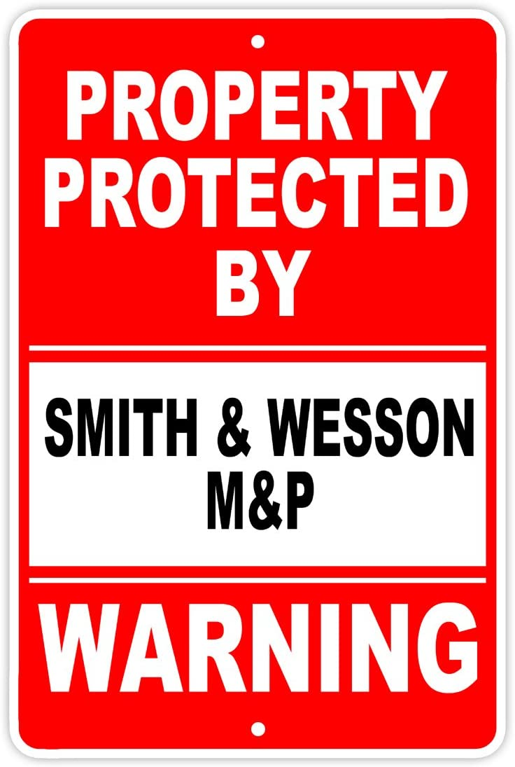 Protected by SMITH & WESSON M&P Gun Pistol Rifle Revolver Ammo Aluminum 8